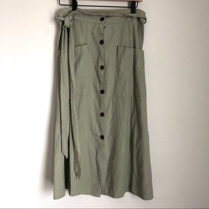 Just Living Skirts - JUST LIVING (THE DREAM) green button-front skirt